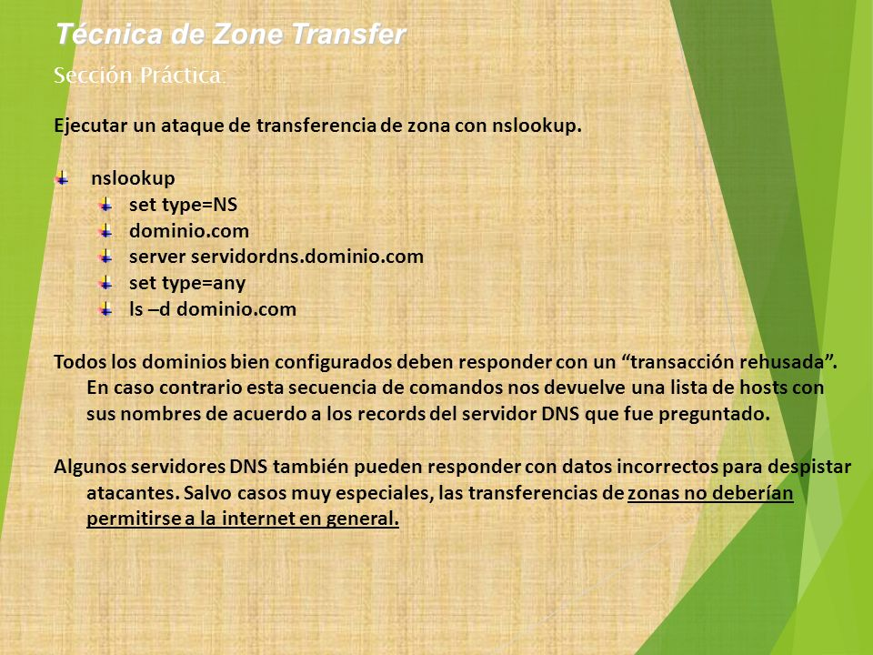 Técnica de Zone Transfer
