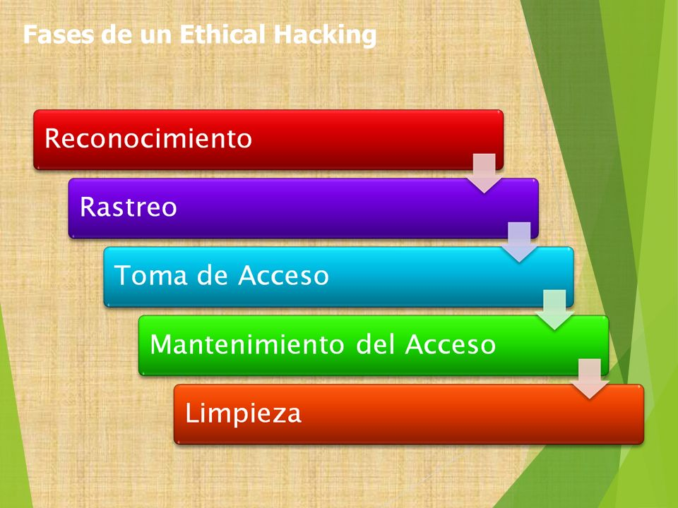 Fases de un Ethical Hacking