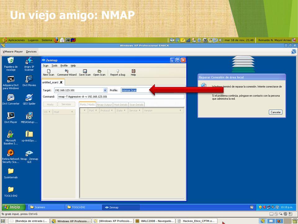 Un viejo amigo: NMAP