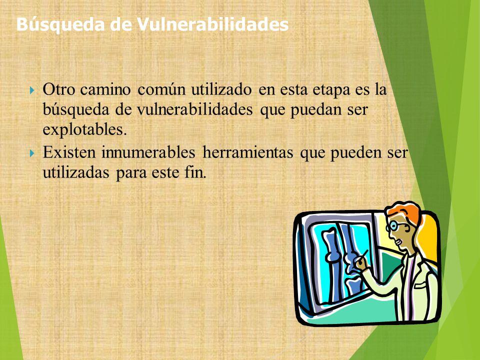 Búsqueda de Vulnerabilidades