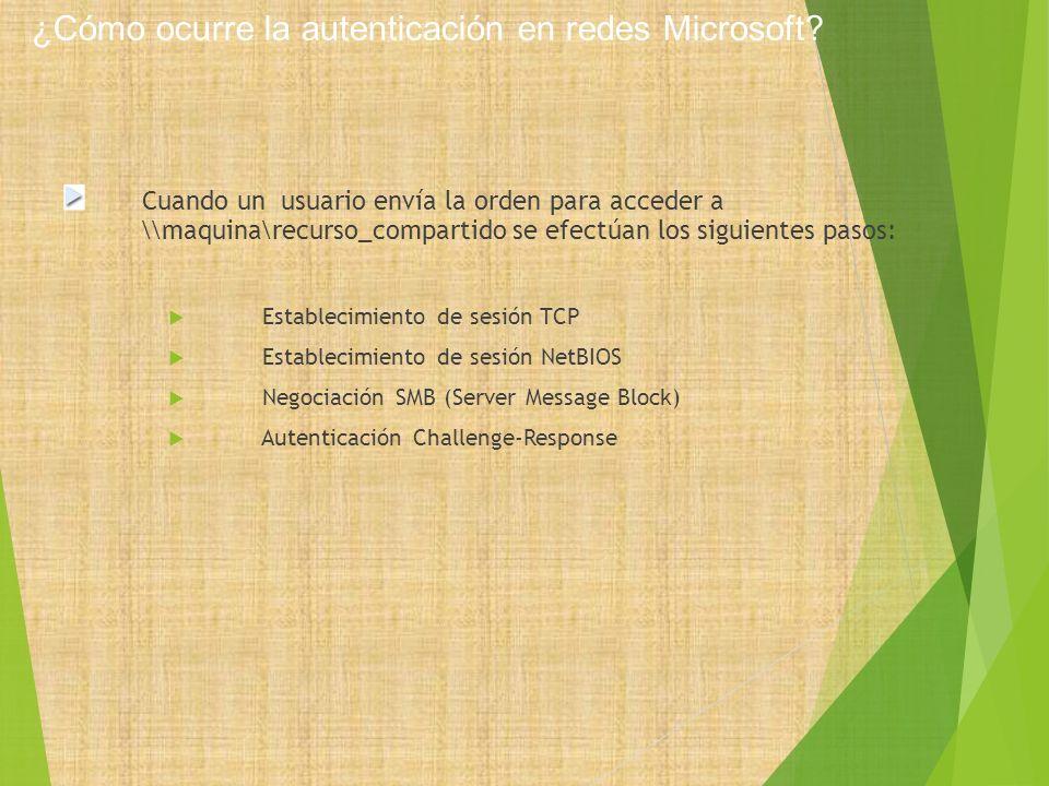 ¿Cómo ocurre la autenticación en redes Microsoft