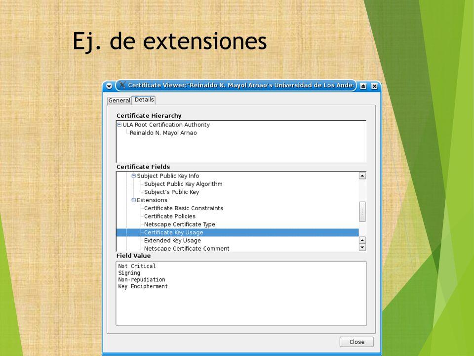 Ej. de extensiones