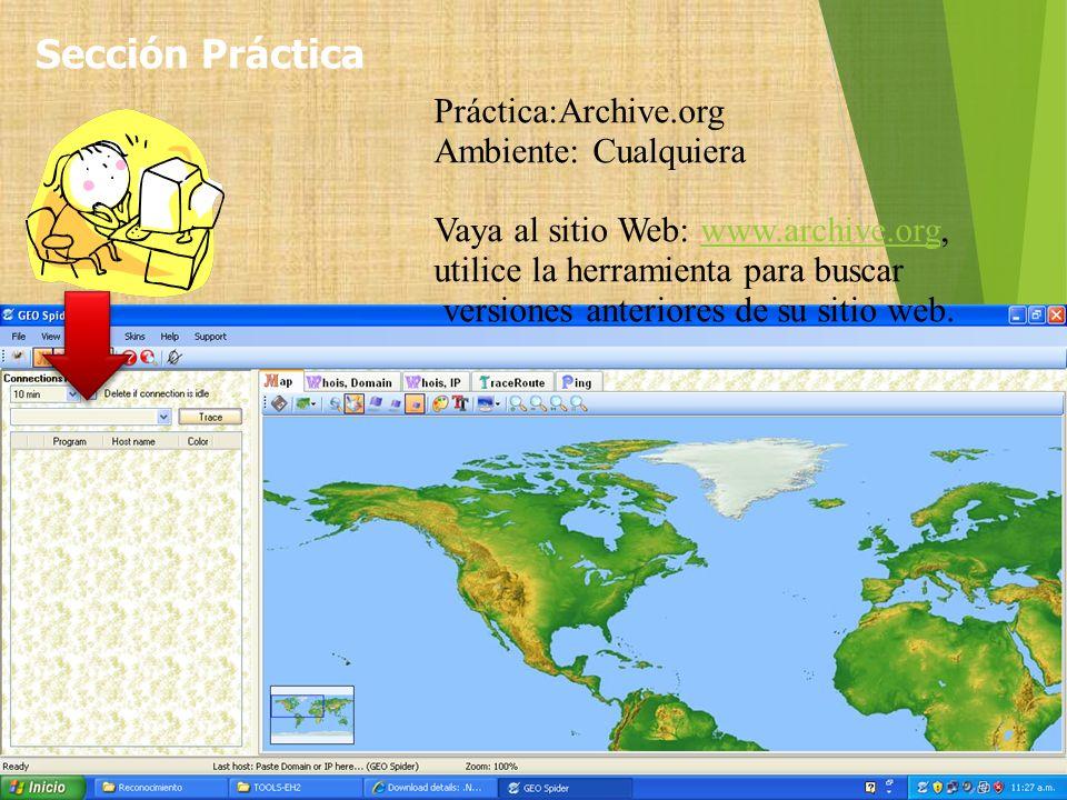 Sección Práctica Práctica:Archive.org Ambiente: Cualquiera