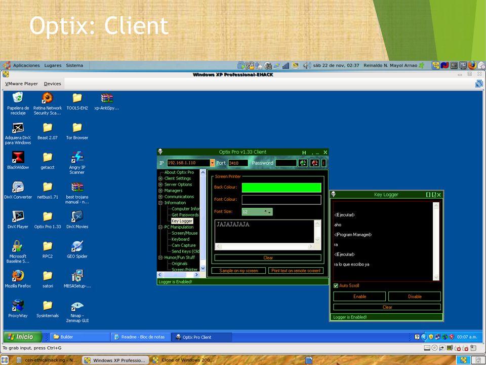 Optix: Client