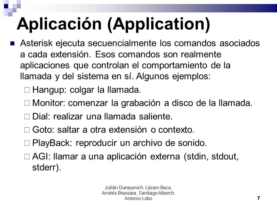 Aplicación (Application)