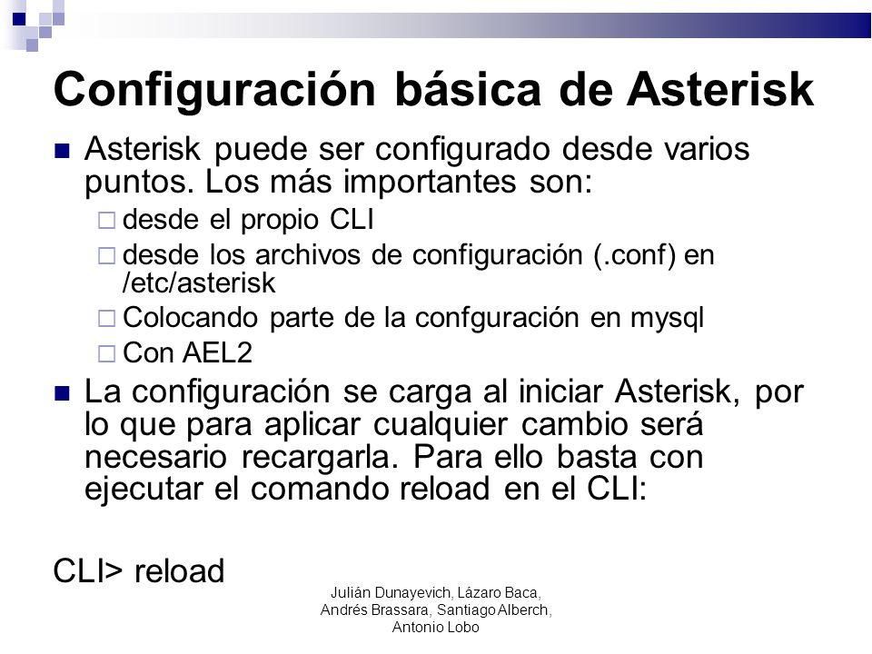 Configuración básica de Asterisk