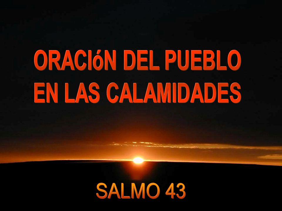 ORACIóN DEL PUEBLO EN LAS CALAMIDADES SALMO 43