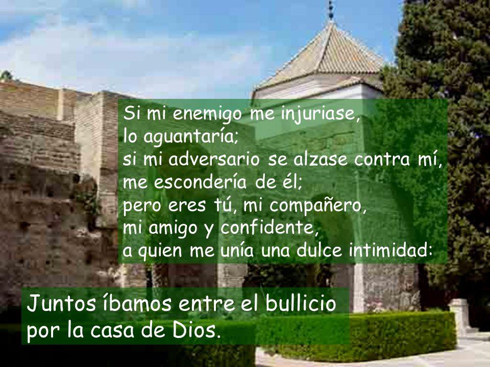 Juntos íbamos entre el bullicio por la casa de Dios.