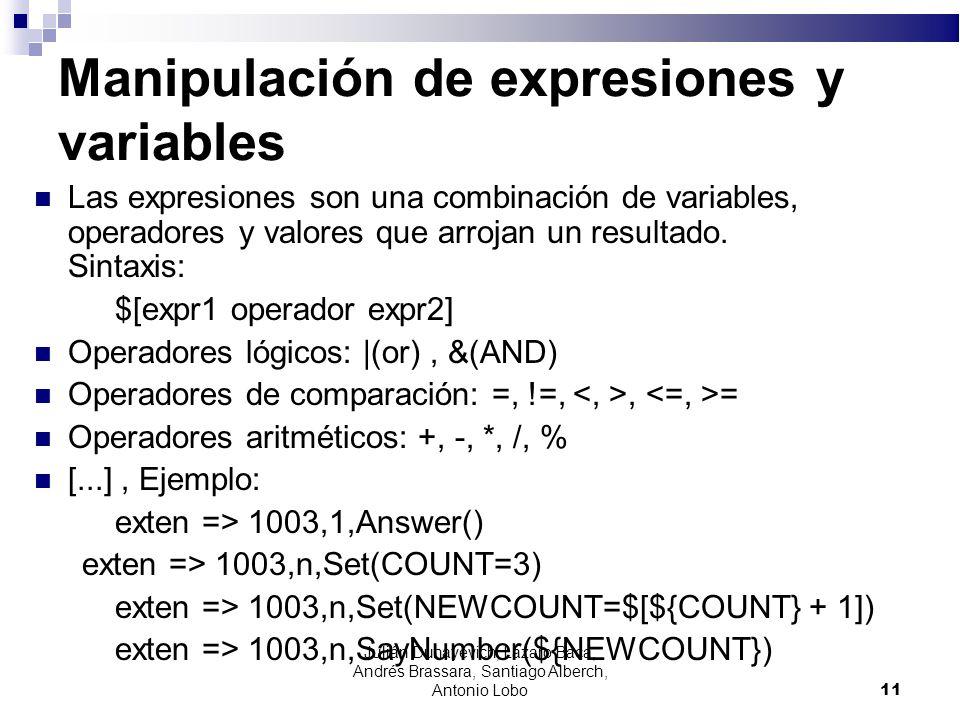 Manipulación de expresiones y variables