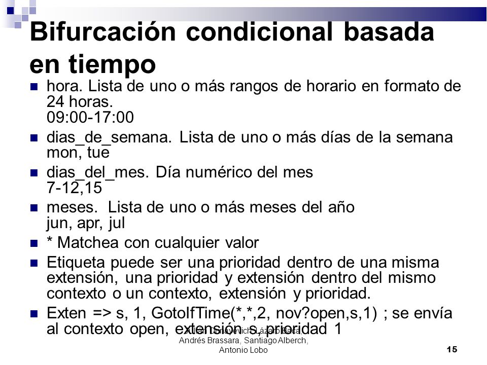 Bifurcación condicional basada en tiempo