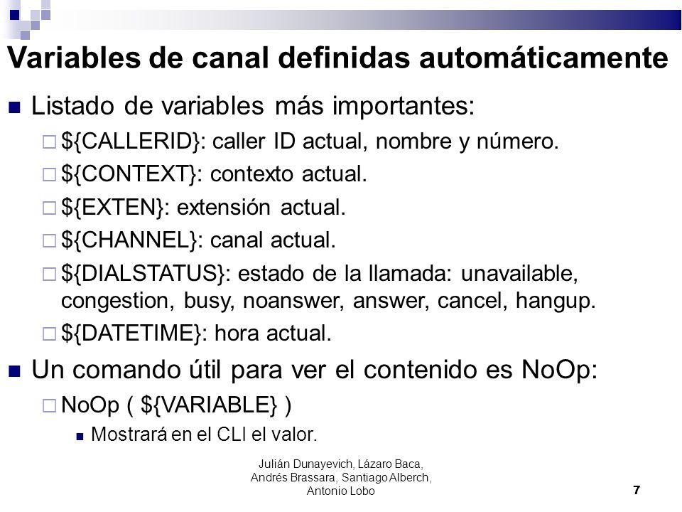Variables de canal definidas automáticamente