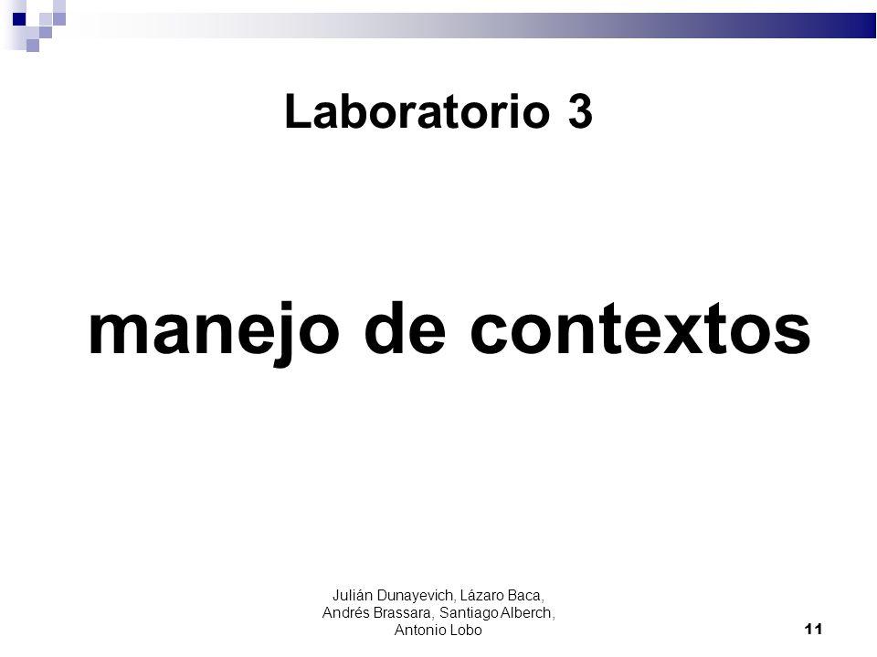 manejo de contextos Laboratorio 3