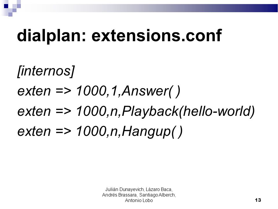 dialplan: extensions.conf