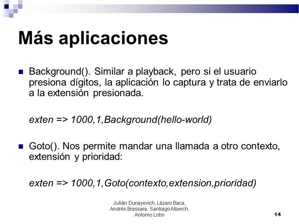 Más aplicaciones