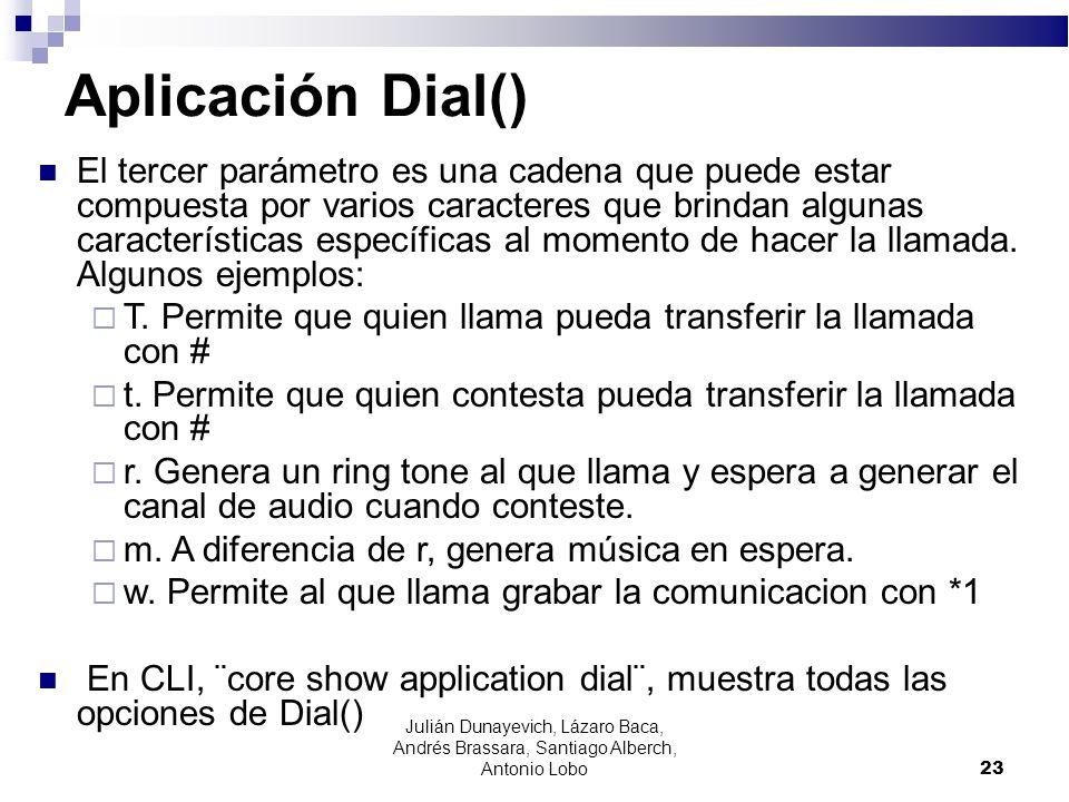 Aplicación Dial()