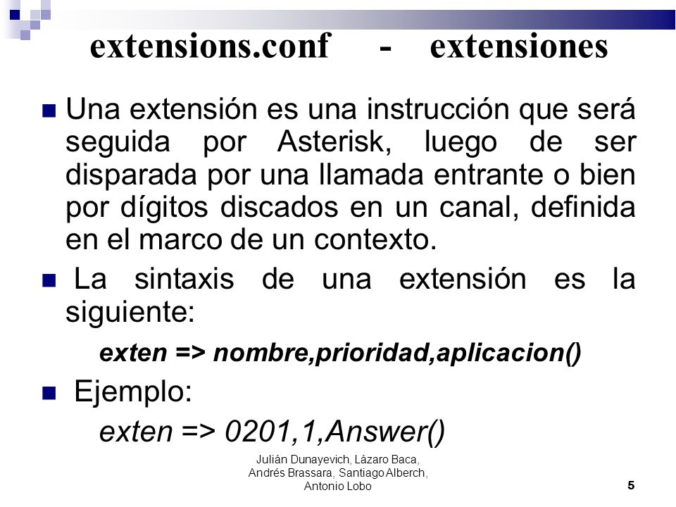 extensions.conf - extensiones