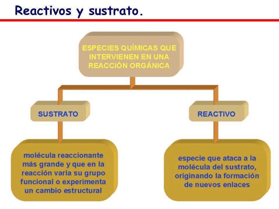 Reactivos y sustrato.