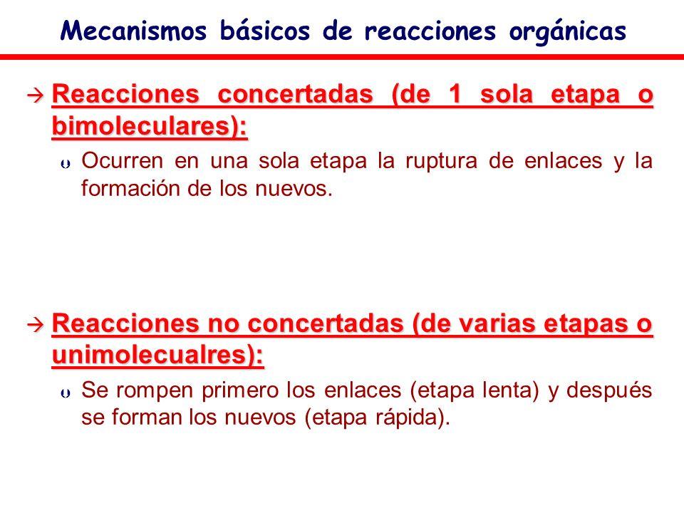 Mecanismos básicos de reacciones orgánicas
