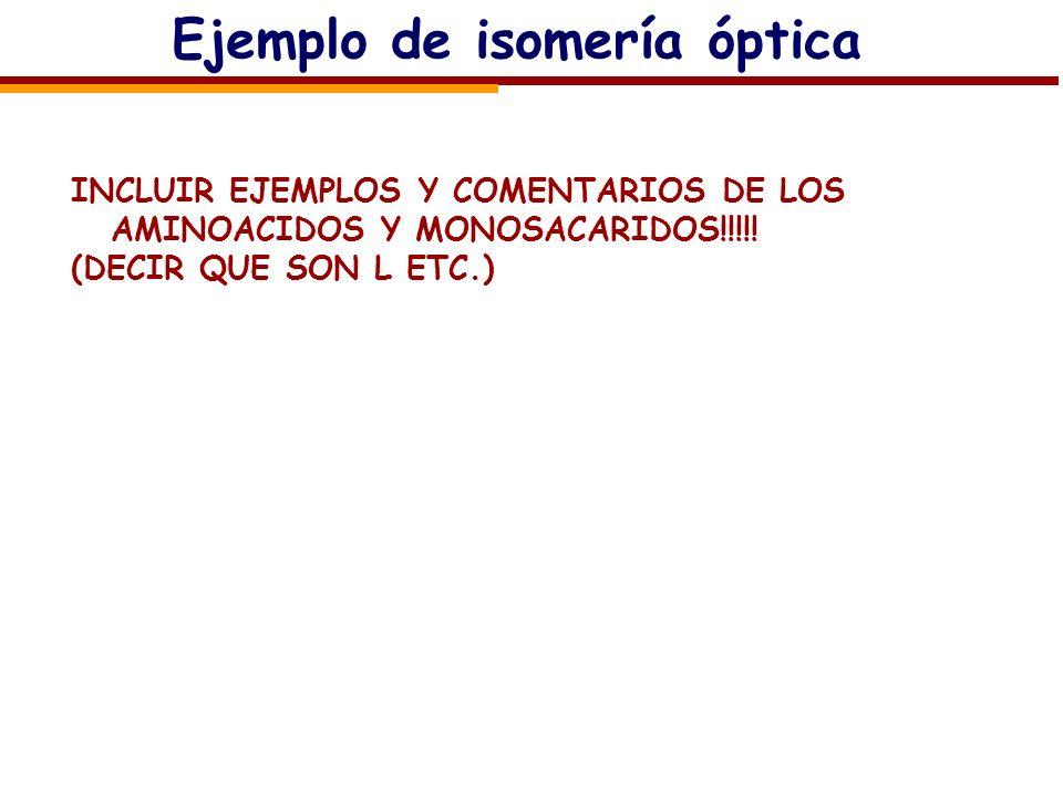 Ejemplo de isomería óptica