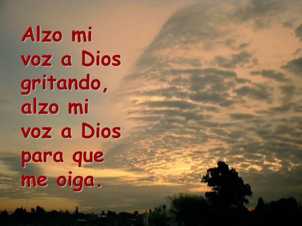 Alzo mi voz a Dios gritando,