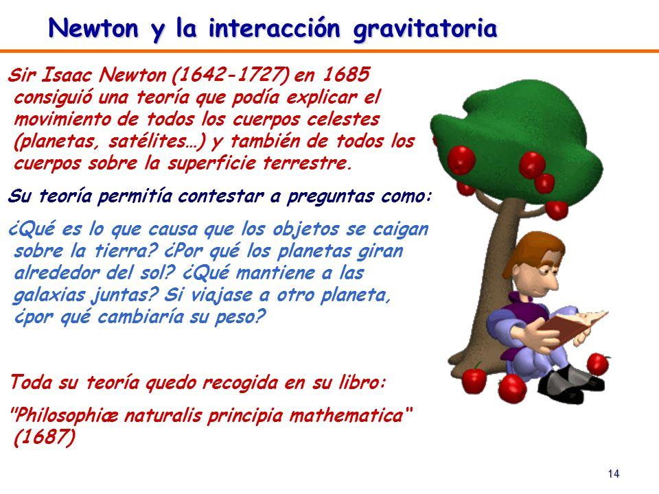 Newton y la interacción gravitatoria