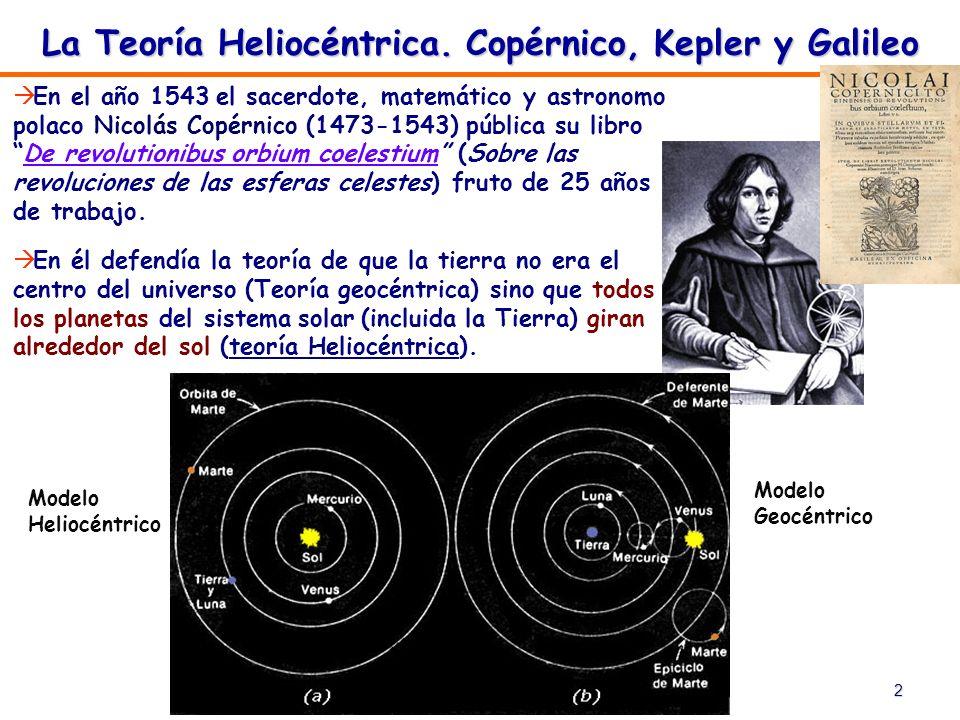La Teoría Heliocéntrica. Copérnico, Kepler y Galileo
