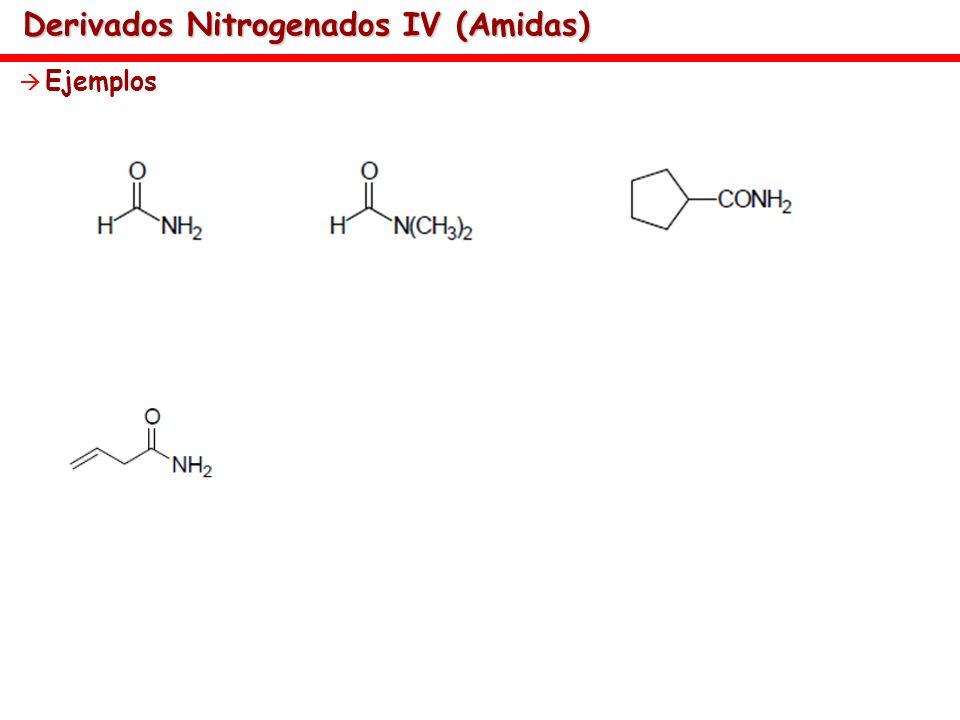 Derivados Nitrogenados IV (Amidas)