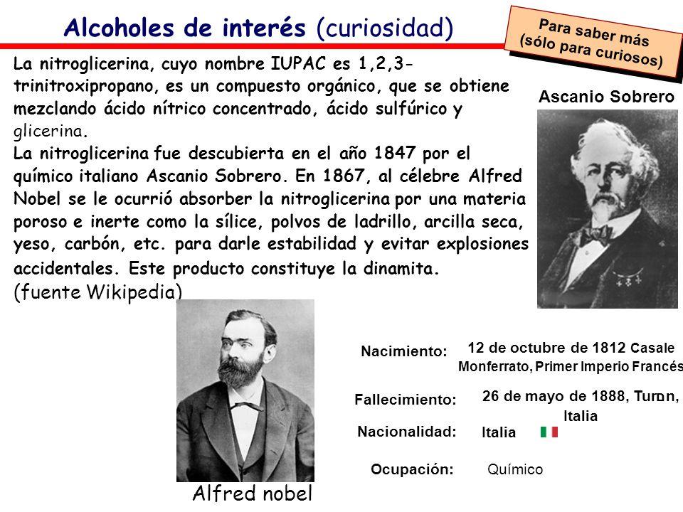 Alcoholes de interés (curiosidad)