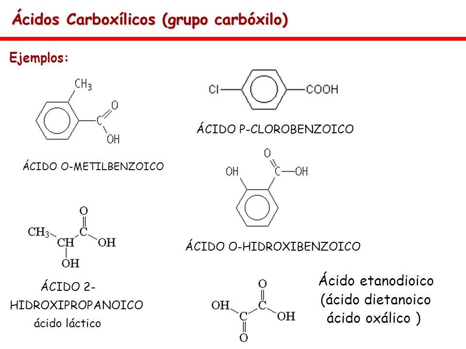 Ácidos Carboxílicos (grupo carbóxilo)