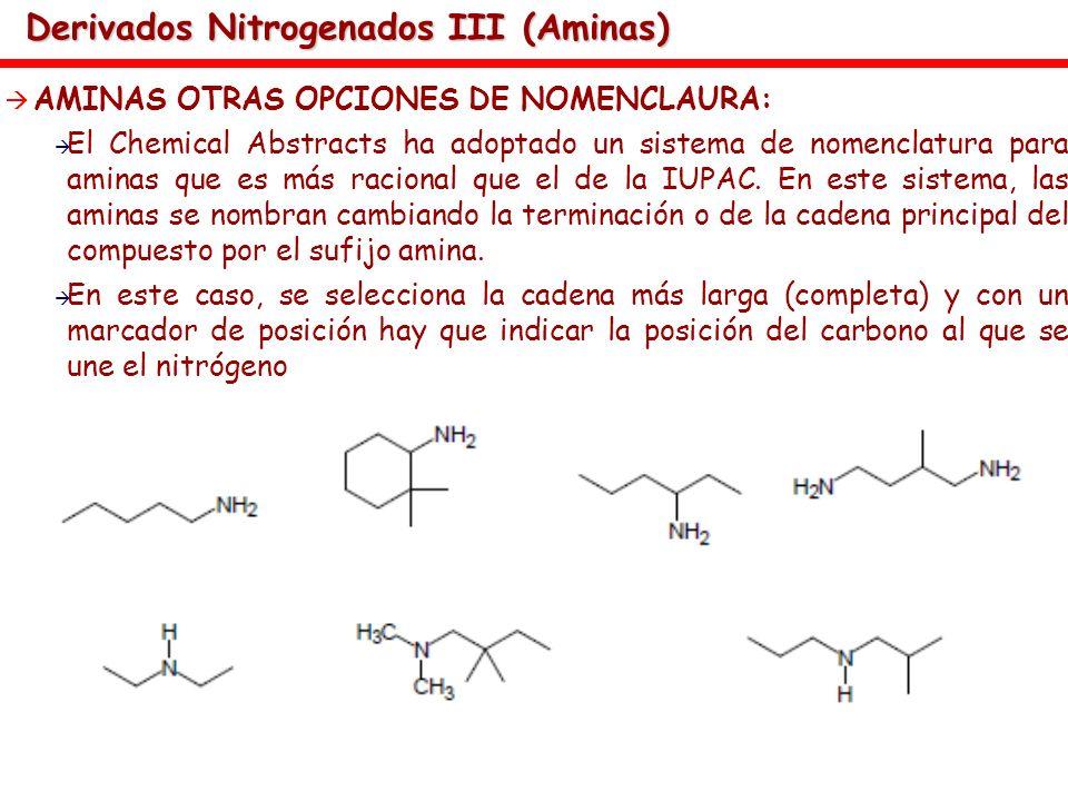 Derivados Nitrogenados III (Aminas)