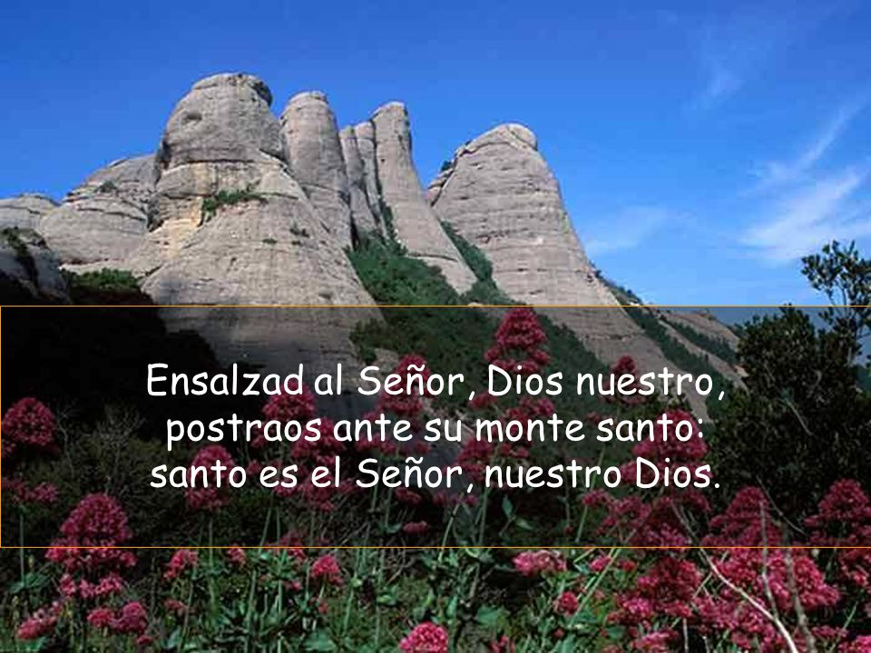 Ensalzad al Señor, Dios nuestro, postraos ante su monte santo: