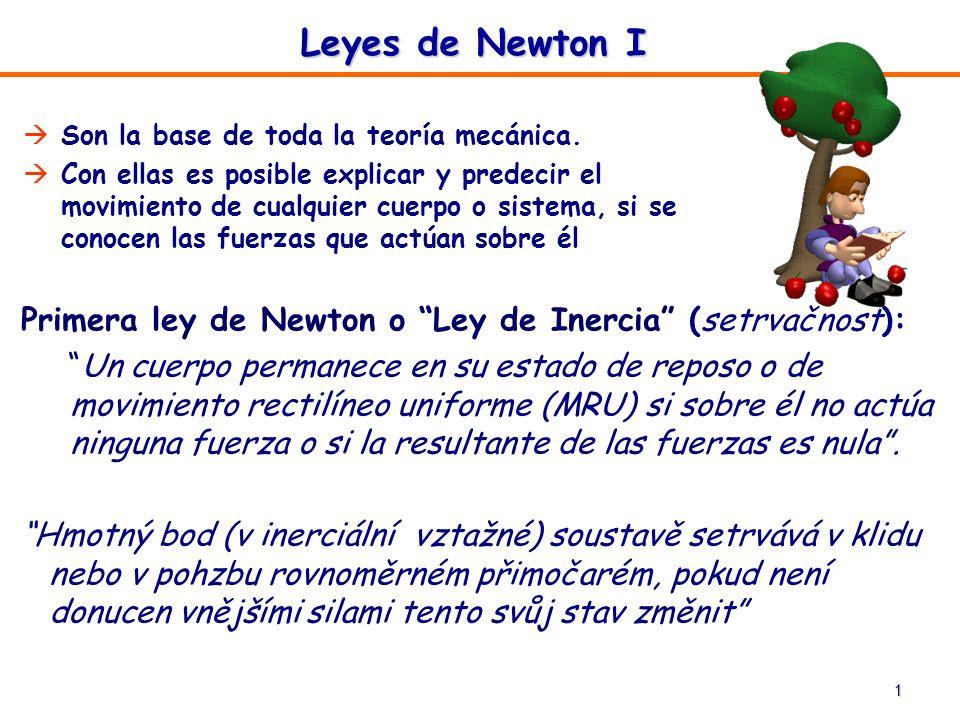 Leyes de Newton I Son la base de toda la teoría mecánica.