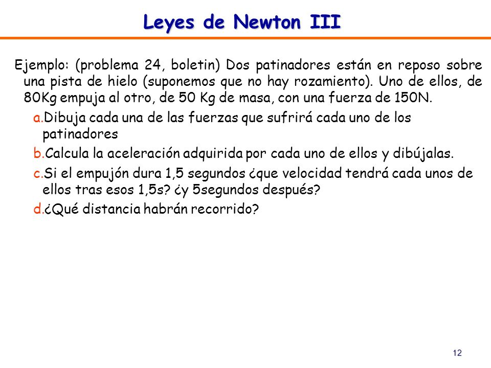 Leyes de Newton III