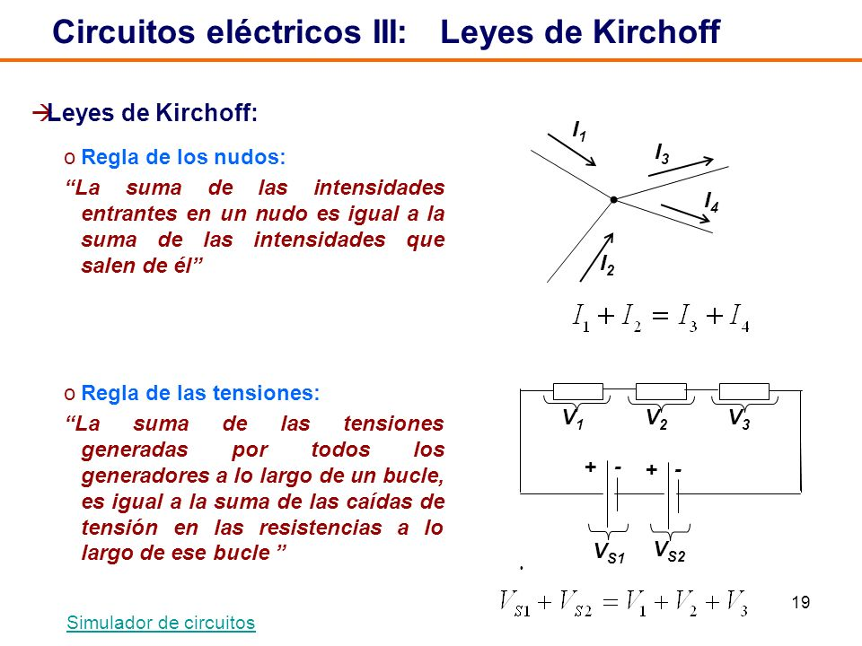 Circuitos eléctricos III: Leyes de Kirchoff