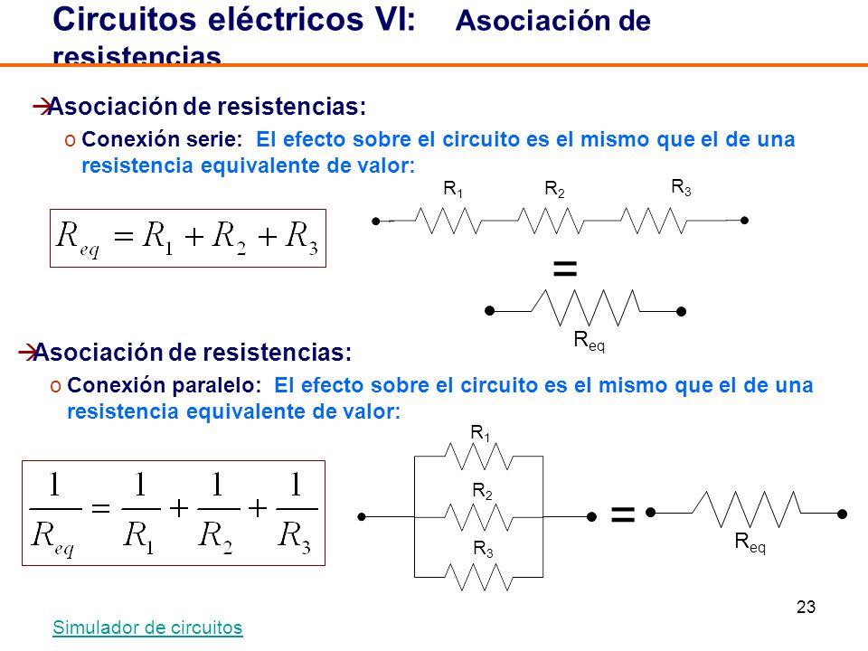 Circuitos eléctricos VI: Asociación de resistencias