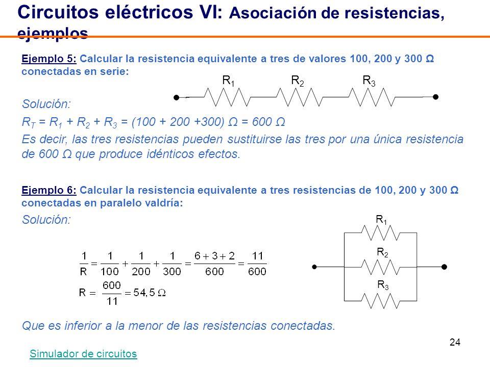 Circuitos eléctricos VI: Asociación de resistencias, ejemplos
