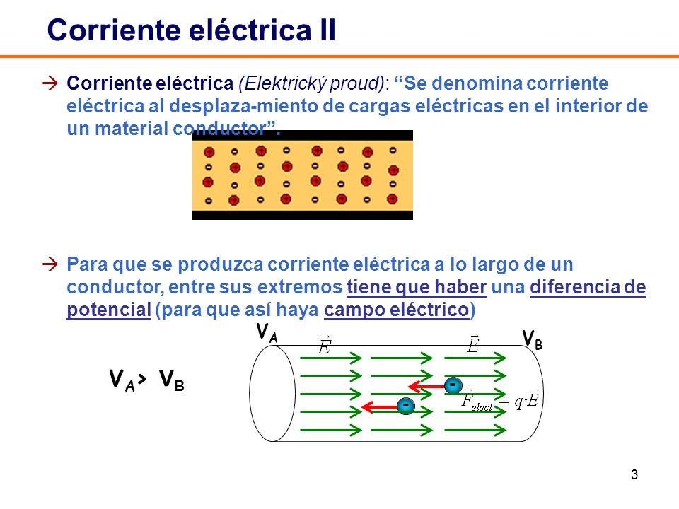 Corriente eléctrica II