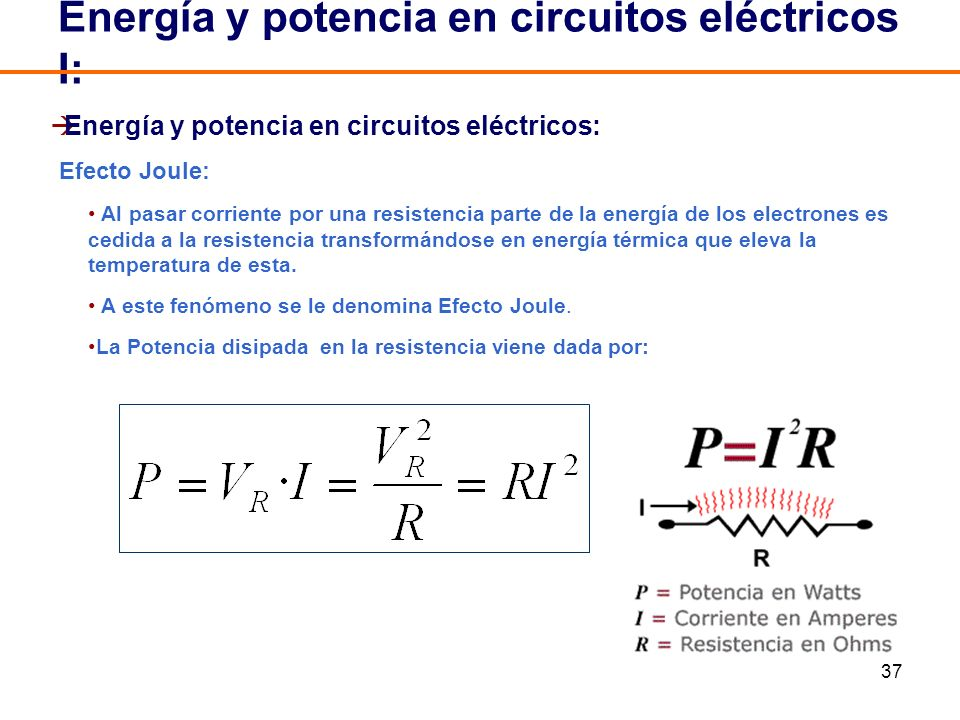 Energía y potencia en circuitos eléctricos I: