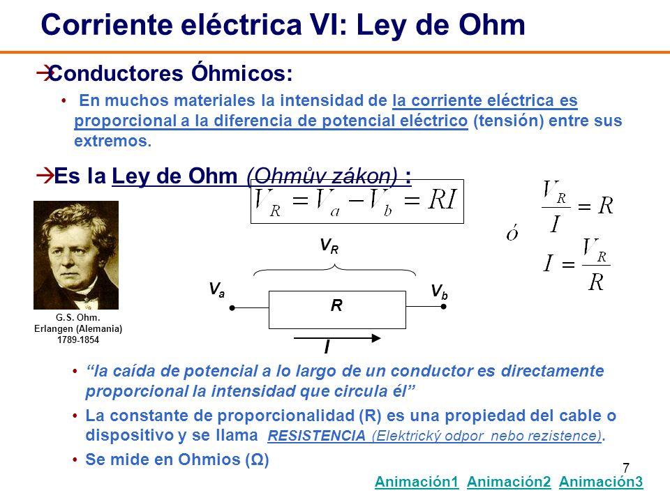 Corriente eléctrica VI: Ley de Ohm