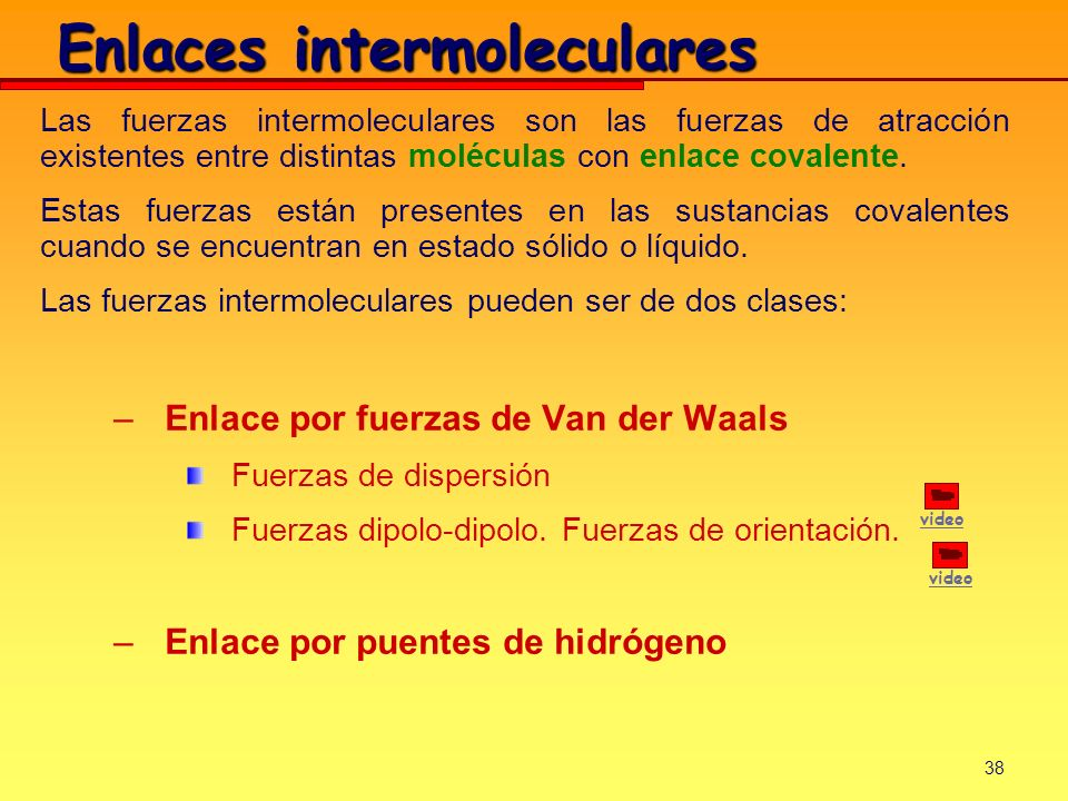 Enlaces intermoleculares