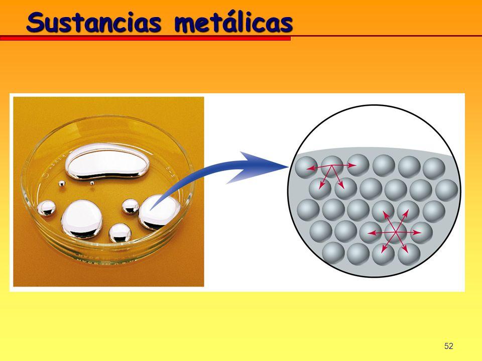 Sustancias metálicas