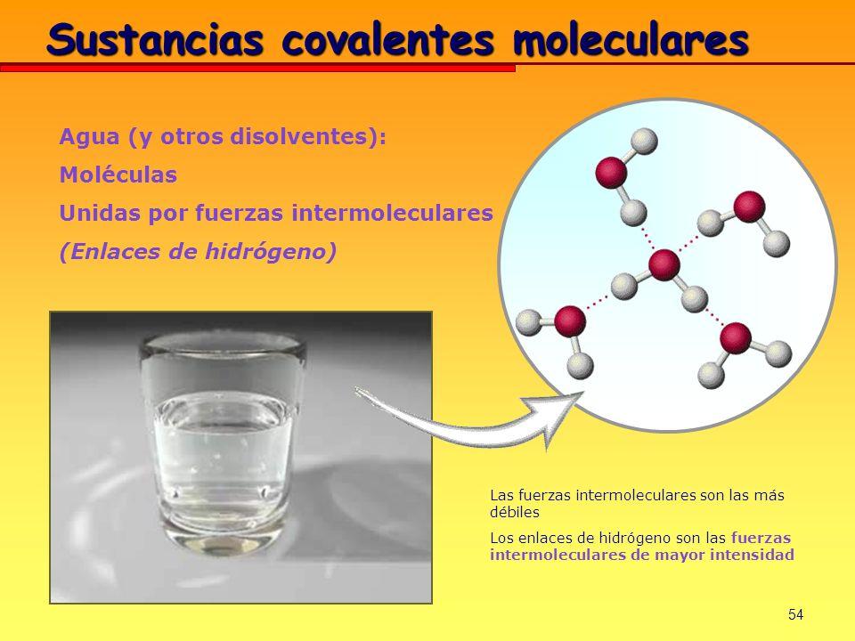 Sustancias covalentes moleculares