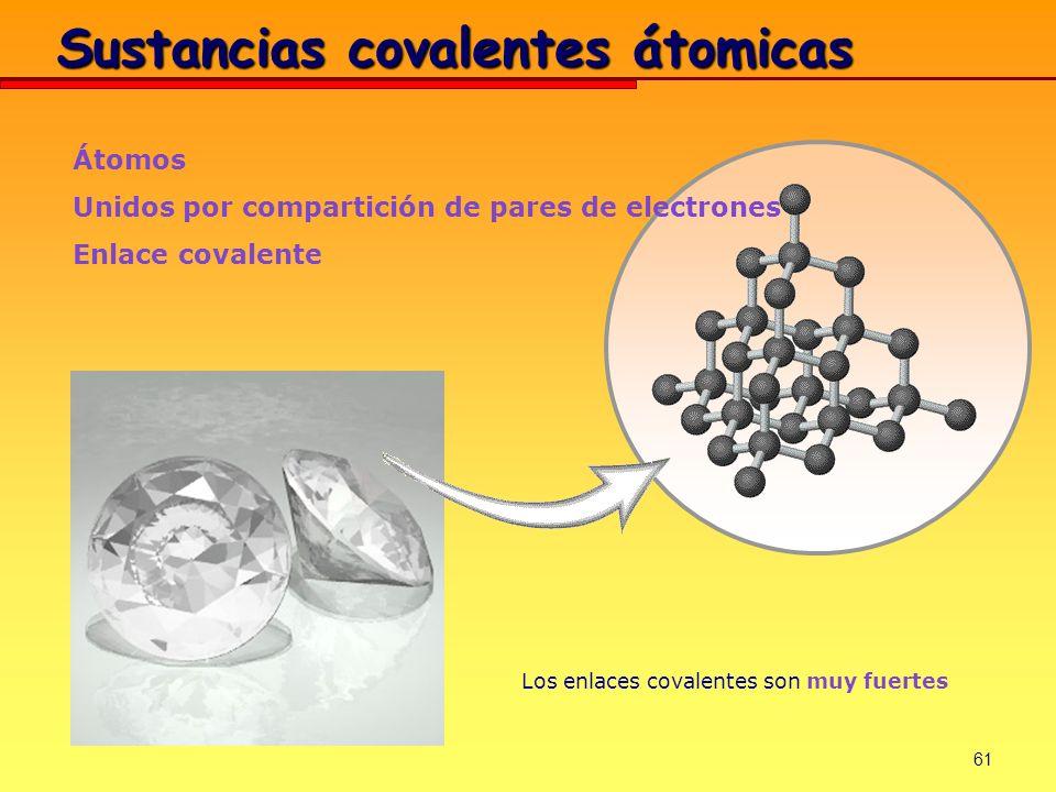 Sustancias covalentes átomicas