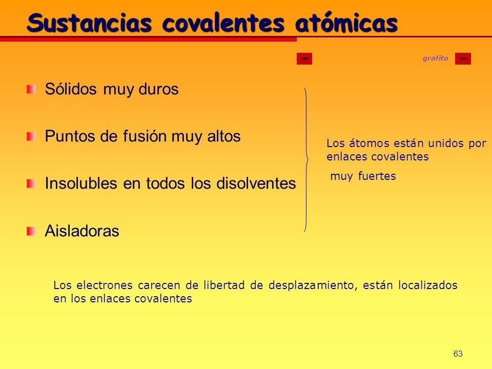 Sustancias covalentes atómicas
