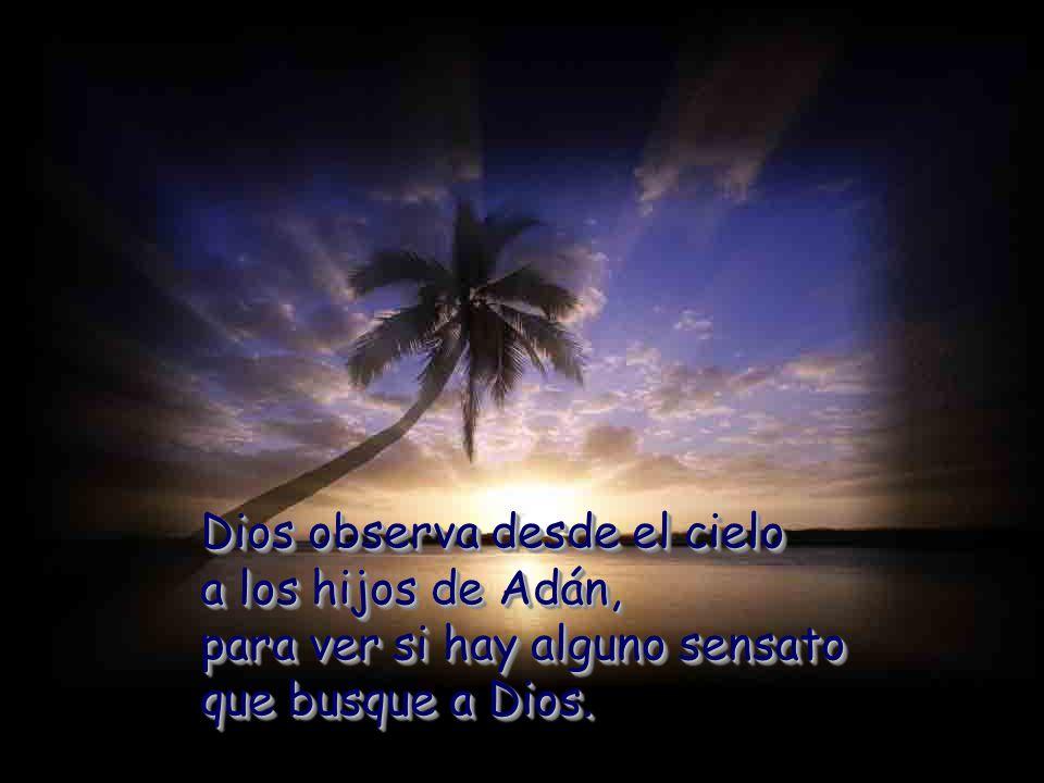 Dios observa desde el cielo