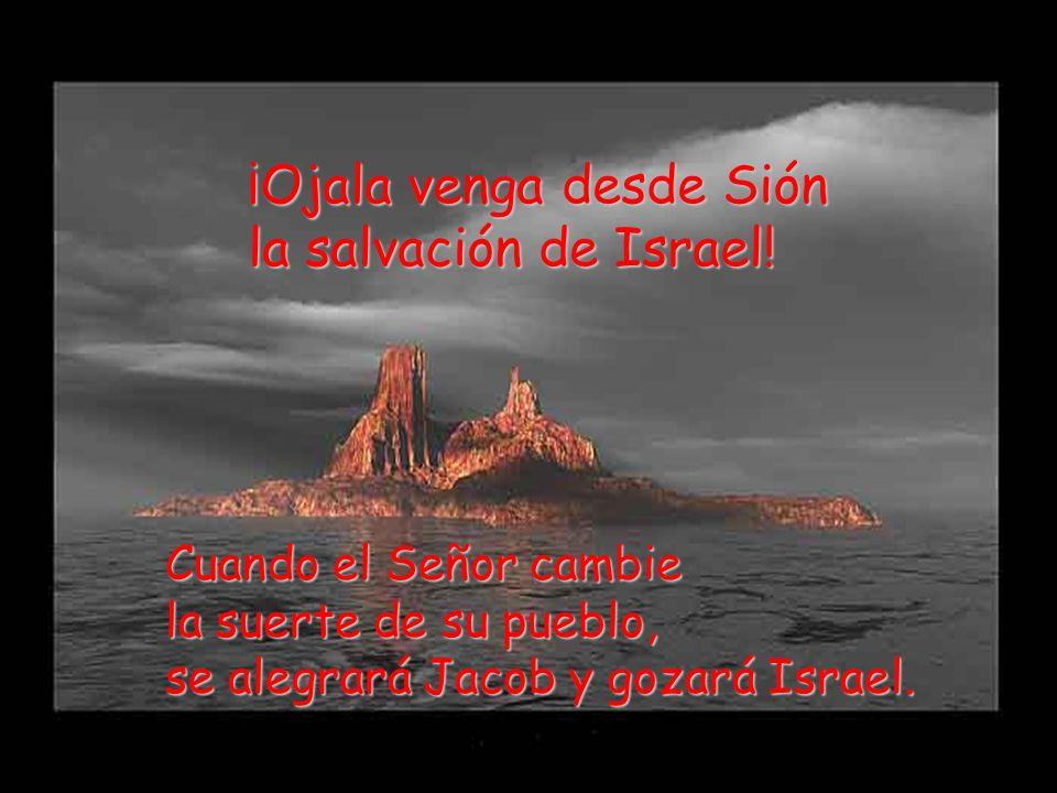 ¡Ojala venga desde Sión la salvación de Israel!
