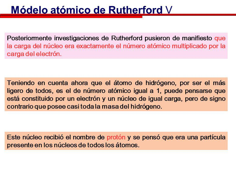 Módelo atómico de Rutherford V
