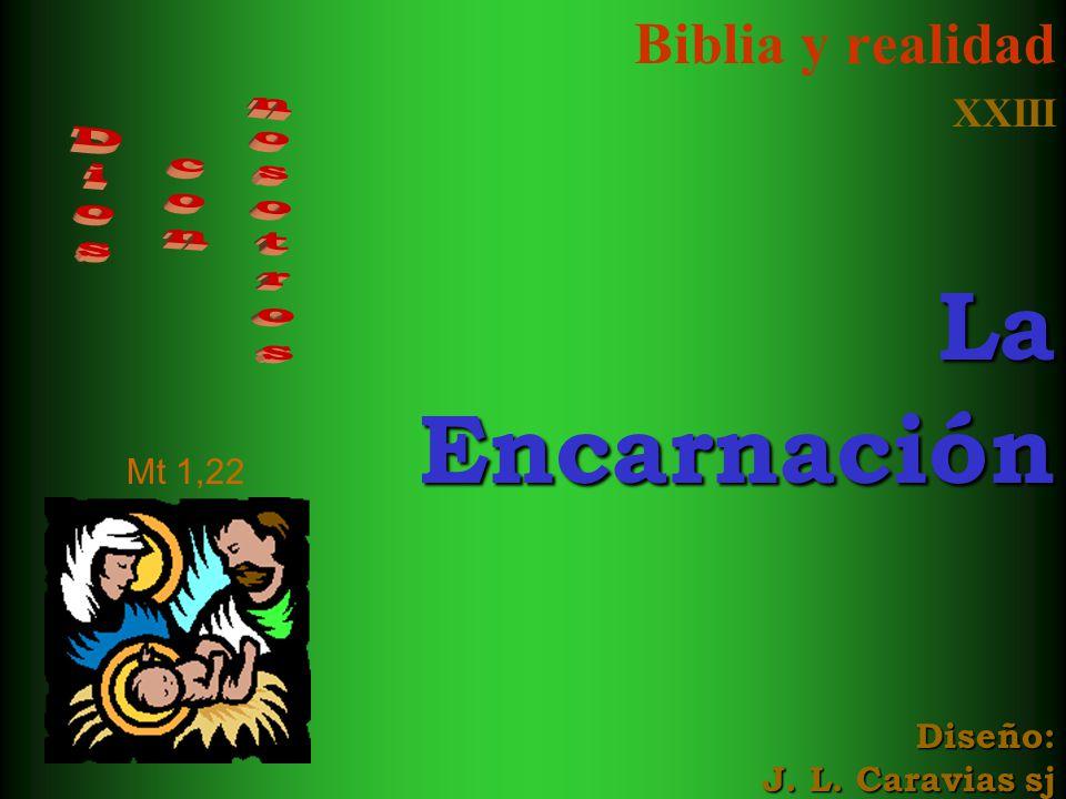 Biblia y realidad XXIII La Encarnación Diseño: J. L. Caravias sj
