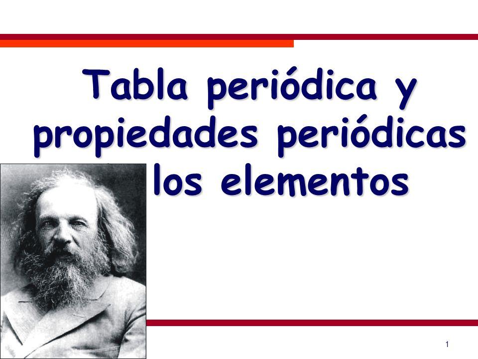 Tabla periódica y propiedades periódicas de los elementos