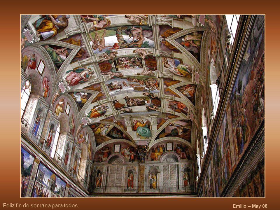 Y ahora, después de admirar los frescos, nos situamos debajo de las pechinas de David y Goliat y Judit y Holofernes , aquí tenemos la salida, hago esta observación porque si alguno tiene tortícolis encuentre la puerta tanteando la pared.